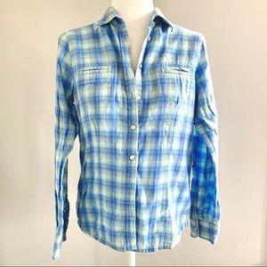 ⚓️ Eddie Bauer Flannel Button Down Shirt